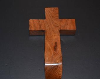 Wood Cross; Christian; Cross Wall Decor; Wood Gifts; Wedding Gift; Live Edge; Mesquite; Wall Cross; Free Ground Shipping USA; cc20-2061917