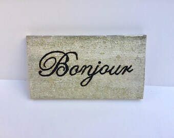 French Barnwood Sign, French Country Decor, French Sign, French Country Welcome Sign, French Country Decor,  French Country Cottage Decor