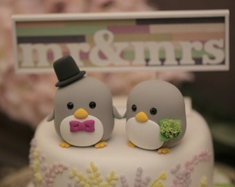 Penguins wedding cake topper (K404)