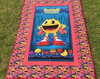 Pac-Man lap blanket or cot quilt