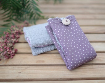 Cotton Wipe   Lilac & Stars