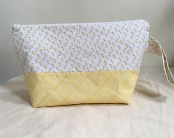 Knitting Project Bag, Sock Bag, Project Bag, Small Knitting Project Bag,Easter Inspired Knitting Bag, WIP Bag, Baby Chicks