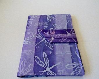 Lavender Dragonflies Batik  Kindle Keyboard, Kindle Fire, and Nook Cover