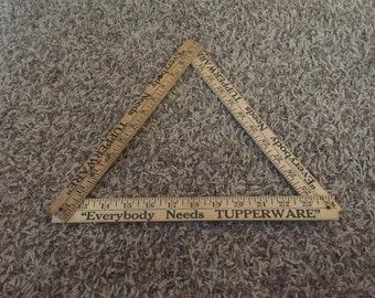 Tupperware folding ruler