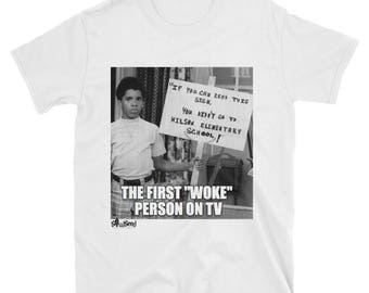 First Woke Person on TV Unisex T-Shirt