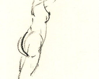 Gesture study 270 Original drawing  7.5 x 10.5 inches