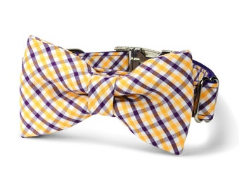 LSU Tigers Bow Tie Dog Collar