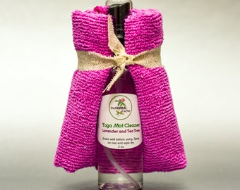 Yoga Mat Cleaner - Natural Cleaner with Wipe Cloth