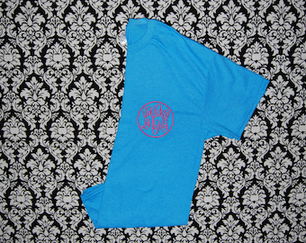 Circle monogram Embroidery Shirt  Child to adult size