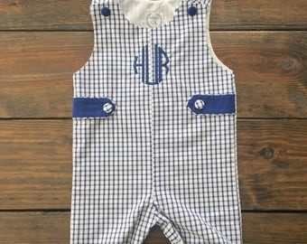 James Navy Windowpane Shortall