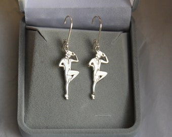 Tap Dancer Earrings, Sterling Silver Tap Dancer Earrings, Dance Jewelry,  Dance Recital Gift