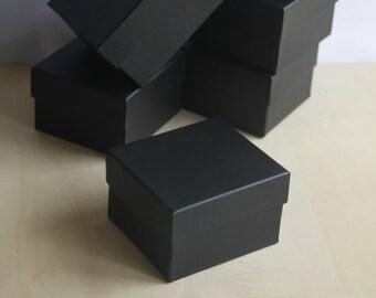 Set of 6, Fancy Black Gift Box, Jewelry Box,