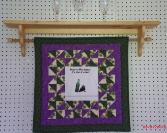 Quilt Rack, Wood shelf, Wall Hanger, Birthday Gift, Housewarming gift