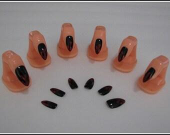 Vampire Werewolf Demon Blood Drip Claw Acrylic Nail Art