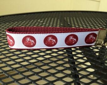 Mississippi State Inspired Keychain Wristlet