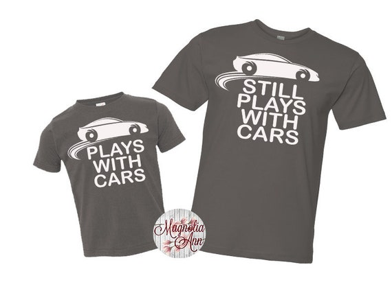 Plays With Cars Shirt Set, Father Son Tees, Father Son Matching Shirts, Daddy and Me Matching Shirts, Matching Family Shirts, Matching Shirt