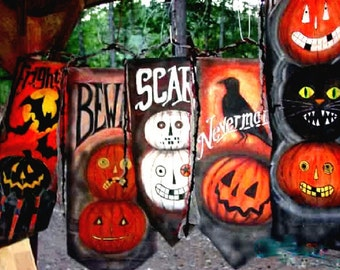Halloween Banner Your Choice of Design-Original Painted Just for You