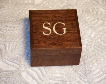 Wedding Ring Box Gift Box, Monogrammed