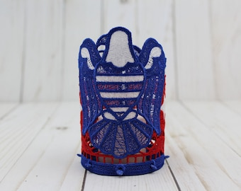 Eagle  ~ Tea Light Holder ~ Free Standing Lace ~ Votive ~ Patriotic ~ Independence day ~ America ~ 4th of July ~ Decor