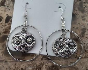 Owl Head earrings