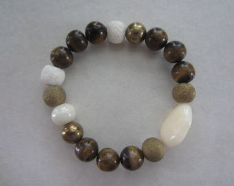 Aromatherapy Bracelet - Tiger's Eye Natural Beauty