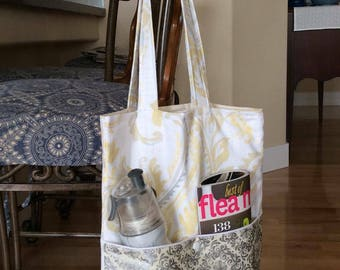 Light Yellow Paisley Tote Bag