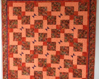 Lap quilt throw bed runner