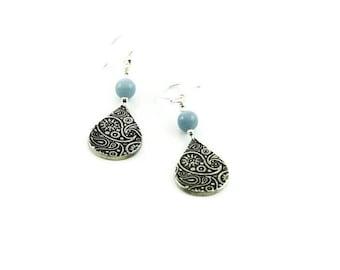 Silver Paisley Earrings as seen on Jane the Virgin