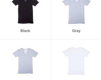 Personalized Adult V-Neck Shirts