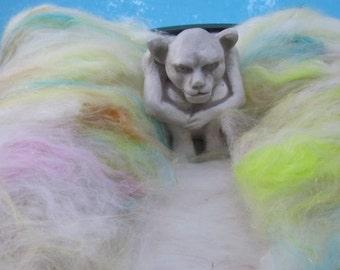 BARELY THERE 4.0 oz, fiber art batt, spinning fiber, carded batt, bling batt, Angelina, roving, doll hair, felting fiber, fiber batt,