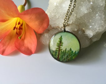 Redwood Tree; Sequoia sempervirens Necklace