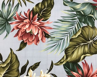 SALE!  Beautiful Hawaiian Print Cotton Fabric  (Yardage Available)