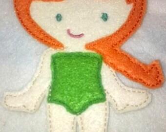 Lizzie Felt Doll, Non Paper Doll