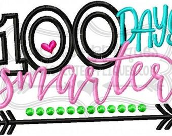 100 Days of School Smarter Applique Shirt or Bodysuit Boy or Girl