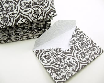 24 Small Envelopes, Wedding Envelopes, card stock insert option, black and white, Wedding Guestbook, Business Card, Anniversary Guestbook