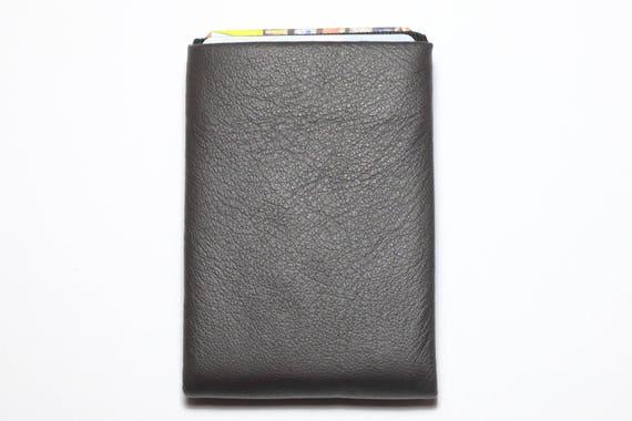Best men gift, Slim Minimalist Wallet, Slim Leather Wallet, RFID Wallet - Original NERO Wallet - Brown