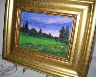 Artist's Original Framed Work, Local North Carolina Artist