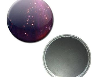 Magnet button 56 mm - Constellation Galaxy space universe cosmos sky