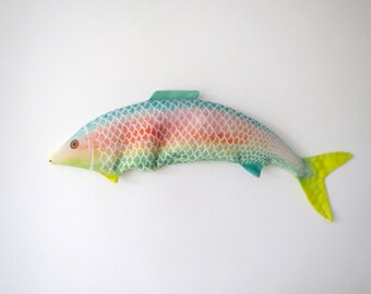 Lavender Fish - Organic Flax and Lavender Eye Pillow - Tropical Rainbow Fish
