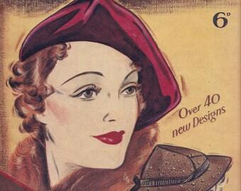 PDF Reproduction - 1930s - Weldon's Home Milliner (no 317, 6D), vintage millinery