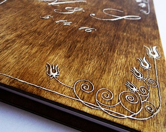 Personalized Rustic Guest Book / Wedding Guest Book / Wood Wedding Album