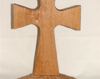 Alder Hand Carved Cross / 176