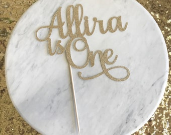 First birthday cake topper, 1st birthday cake topper, one cake topper