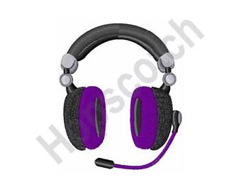 Headphones - Machine Embroidery Design - 4 x 4 Hoop, Music, DJ