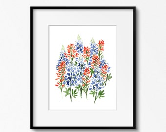 Bluebonnets and Paintbrushes - INSTANT DOWNLOAD