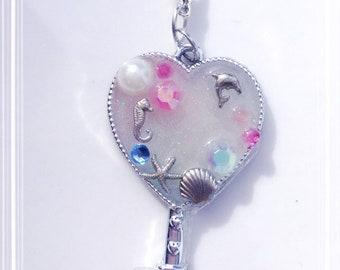 Oceanic Heart Key Pendant