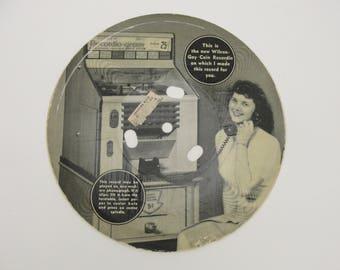 Vintage Wilcox-Gay Coin Recordio record
