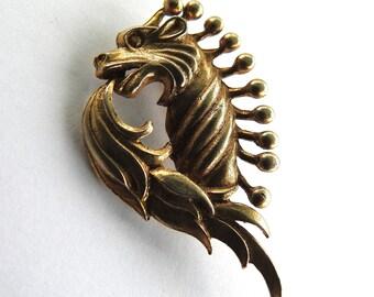 Dragon Breathing Fire Brooch