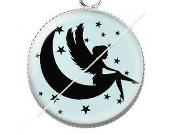 Pendant cabochon resin fairy 9 stars