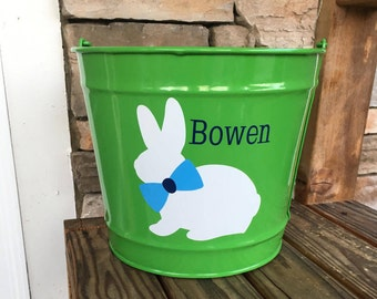 10 Quart Personalized Easter Bucket; Personalized Easter Bucket; Easter Bunny Bucket